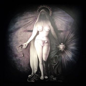 La vierge aux ovaires, stylo Bic sur toile