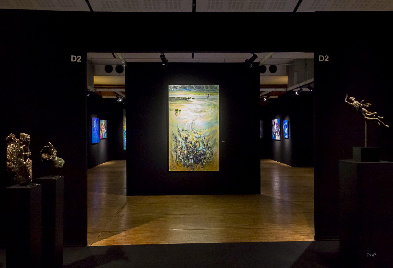 Vue du Salon des Beaux Arts • La section Peinture